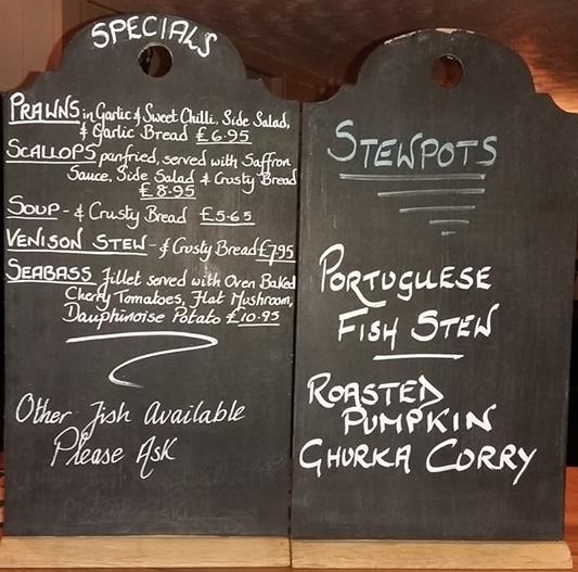 this week's specials at the Rule 7 Bistro
